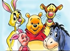 Rabbit, Piglet, Winnie The Pooh, Tigger & Eeyore