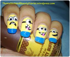 The Despicable Me Movie Inspired Nail Art