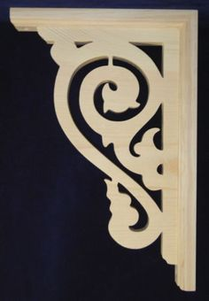L&G's Victorian Gingerbread Fretwork Porch/ Corner Trim Bracket Wooden Corbels, Wood Brackets, Pelmet Designs, Simple Workbench Plans, Laser Cut Lamps, Pine Trim, Victorian Porch, Pooja Room Door Design, Decorative Brackets