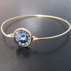 Zodiac Charm Bracelet Gold Zodiac Bracelet by FrostedWillow