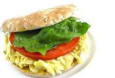 Skinny Egg Salad Sandwich (4 Points+) Would be less then 4 points if you used Sara Lee 45 calorie bread!