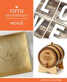 5 Year Wedding Anniversary Gift Ideas Wood : ... Pinterest 5 year anniversary gift, 5 years and 4 year anniversary