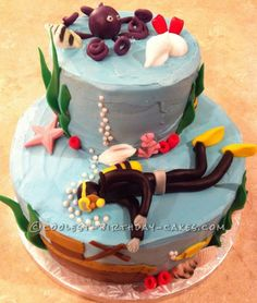 Image result for snorkeling fondant cakes