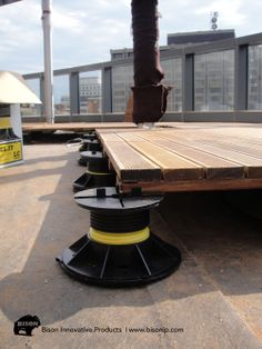 Bison Innovative Products Levelit Adjustable Deck Supports And Wood for measurements 1000 X 1333 Bison Decking Products - So many folks are interested in Rooftop Design, Terrace Design, Deck Design, Design Design, Diy Deck, Diy Pergola, Pergola Kits, Decks, Wood Deck Tiles