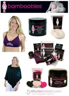 Bamboobies Nursing Moms Essential Prize Pack from @5minutesformom