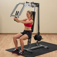 Body-Solid Pec Deck / Rear Delt Machine - Chest Fly Exercise Home Gym 638448000964 Home Gym Equipment, No Equipment Workout, Fitness Equipment, Rear Delt, Weight Machine, Strength Training Equipment, Best Home Gym, Intense Workout, Muscle Fitness
