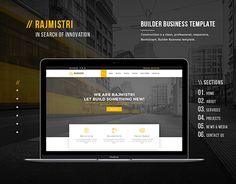 """Check out new work on my @Behance portfolio: """"Rajmistri - Construction Builder Company Template"""" http://be.net/gallery/59314677/Rajmistri-Construction-Builder-Company-Template"""