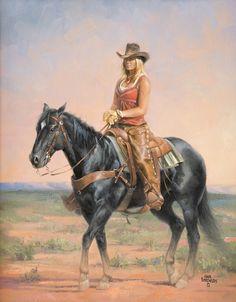 "<span class=""EmojiInput mj40"" title=""Heavy Black Heart ::heart::""></span> Cowgirls By Jack Sorenson ""sittin'pretty"""