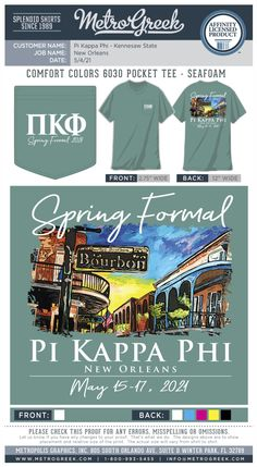 Fraternity Shirts | Metro Greek | Formal Shirts | Pi Kappa | Pi Kappa Phi Shirts | New Orleans | #formal #metrogreek #pikapp #fraternity Fraternity Shirts, Sorority And Fraternity, Sorority Shirts, Pi Kappa Phi, Sorority Formal, Kennesaw State, Formal Shirts, Comfort Colors, New Orleans