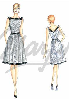 Marfy full circle skirt dress