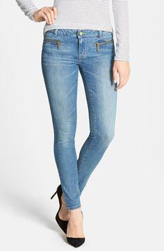 MICHAEL Michael Kors Zip Pocket Skinny Jeans (Veruschka) (Regular & Petite) available at #Nordstrom