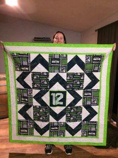 Seahawks quilt - great idea