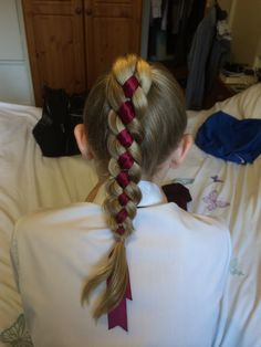 4 strand braid with ribbon