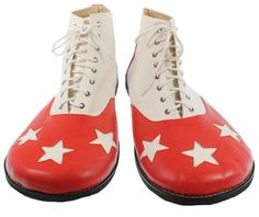 RedSkyTrader Mens Costume Clown Shoes Stars « Clothing Adds Anytime
