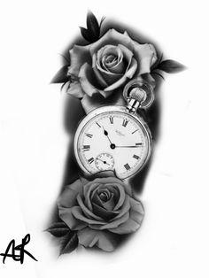 300 Best Clock Roses Tattoo Design Images In 2020 Tattoo Designs Clock Tattoo Watch Tattoos