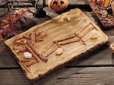 """Scary Night"" Caramel Brownies"