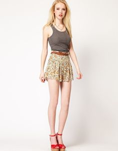 Enlarge Goldie Floral High Waisted Shorts