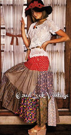 $3.00 download at Vintage Crochet Pattern 1970s Irish Lace Peplum by 2ndlookvintage
