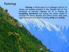 #Patnitop  @Getupandgotours Adventure Holiday, Adventure Tours, Paragliding, Winter Season, Winter Time, Winter