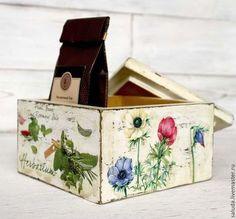 """Ręcznie kuchnia.  Targi Masters - ręcznie pudełko cukierków dla """"Herbarium"""".  Handmade."""