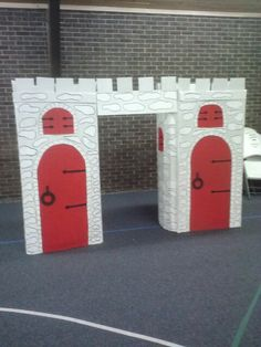 Castle Kingdom rock VBS (made with refrigerator boxes)
