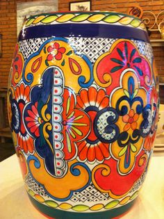 These Talavera Planters Feature Wonderfully Intricate Floral Patterns That  Will Look Great With Your Plants, Indoors Or Out! The Ceramic Of These U2026