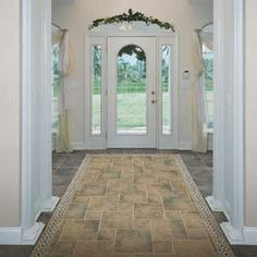 Foyer Tile Design Ideas shiney foyer tile floor with dots but shiny is slick and someone will crack Tile Floor With Border Foyer Tile Ideas Pic 16