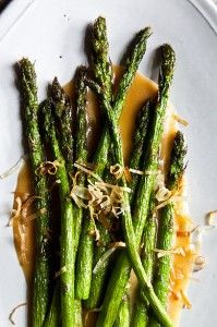 Nobus Fried Asparagus with Miso Dressing