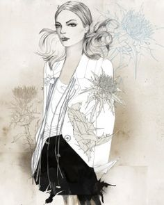 Monsieur Qui - French fashion illustrator