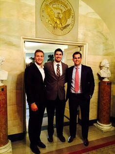 Ryan Allen, Danny Aiken, & Stephen Gostkowski at the White House