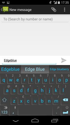 Edge Blue theme, available in the Android SwiftKey Store!