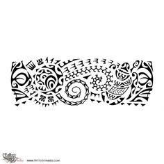 Image result for tattoo maori na perna bracelete