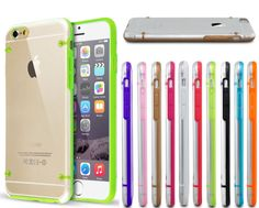 funda transparen marco de colores hard back iphone 6