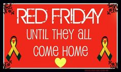 I wear RED (even though you may not see it...lol) every Friday!!! ;)