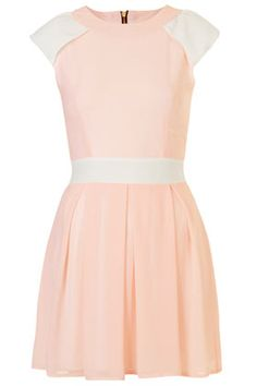 **Contrast Pleat Dress by Wal G