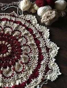 Motif Mandala Crochet, Mandala Blanket, Crochet Rug Patterns, Crochet Motifs, Crochet Squares, Crochet Doilies, Free Crochet, Mandala Rug, Mandala Design