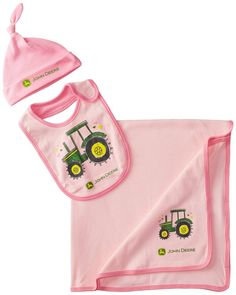 John Deere Baby-Girls Newborn Tractor Layette Set Pink: Perfect for gift-giving. Three-piece set includes soft blanket, bib and hat. Cute Baby Girl, Baby Girl Newborn, Baby Girls, John Deere Baby, Babies R, Camo Baby Stuff, Baby Sister, Baby Boutique, Baby Wearing