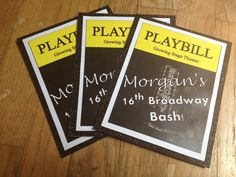 10 Broadway Party Invitations  Playbill  NYC by InspiredByParties, $40.00