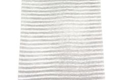 Gray and Off White Stripe Sweater Knit Fabric 32 by felinusfabrics