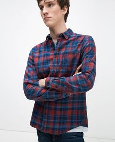 Image 2 of CHECK SHIRT from Zara