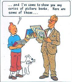 Tintin albums // getting meta...