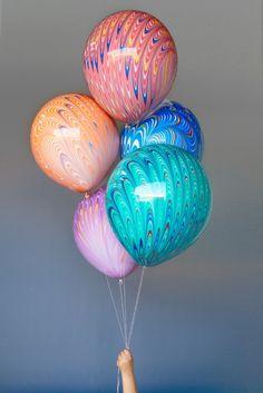 "20"" Balloon : Marble : Blue"