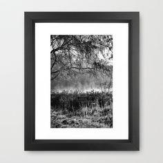 Bench Framed Art Print by Jean-François Dupuis - $40.00