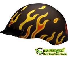 Tortugaz™ Universal DOT Motorcycle Bike Helmet Cover Protector Flaming Flames