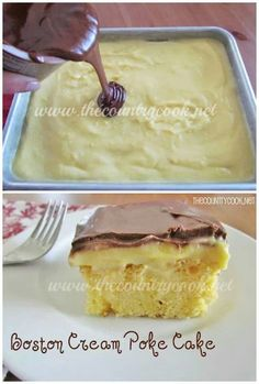 BostonCream poke cake