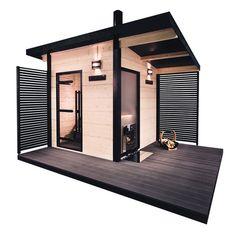 Look at the webpage above simply press the grey tab for further alternatives _ steam sauna Sauna House, Sauna Room, Sauna Design, Cabin Design, Modern Saunas, Minimalist Design, Modern Design, Porches, Sauna Shower