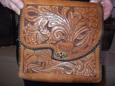 Leather vintage purse 1960s'