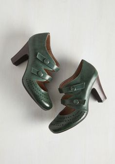 1920s style day shoes: Take a Phase Out of Your Book Heel $129.99 AT vintagedancer.com