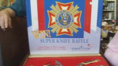Another shot of the VFW knife reffle set. Free appraisal seminar 07/21/12