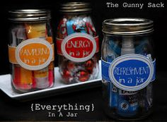 Everything in a jar. Great gift ideas